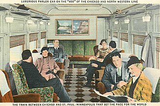Twin Cities 400 - Image: Chicago and North Western Railway 400 parlor car circa 1930s