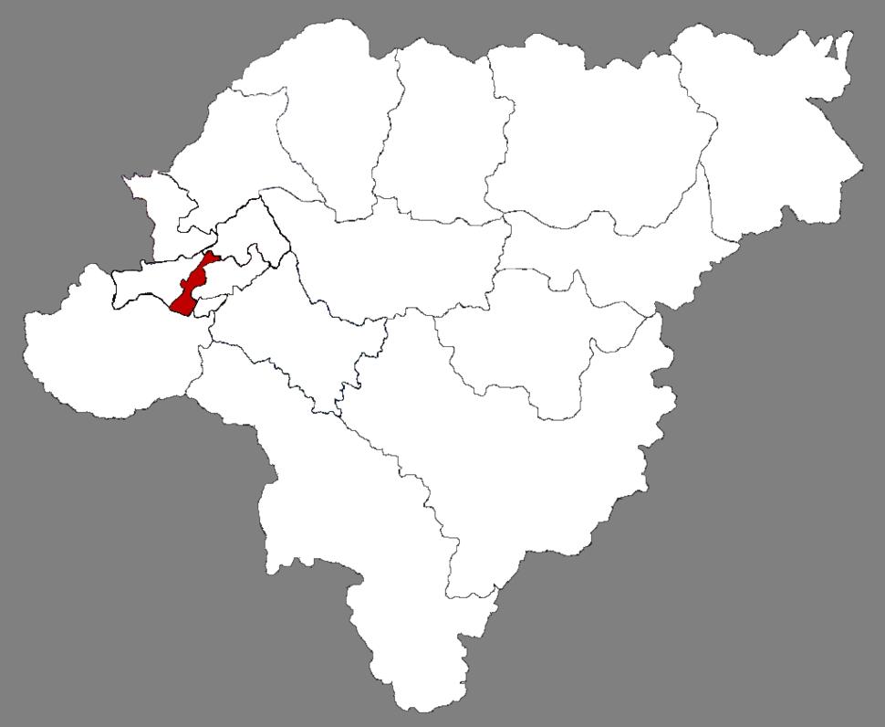Location of Nangang in Harbin