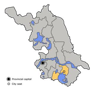 Wuxi Prefecture-level city in Jiangsu, Peoples Republic of China