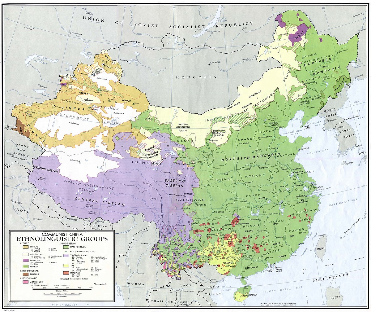 Cartina Russia Cina.Gruppi Etnici Della Cina Wikipedia