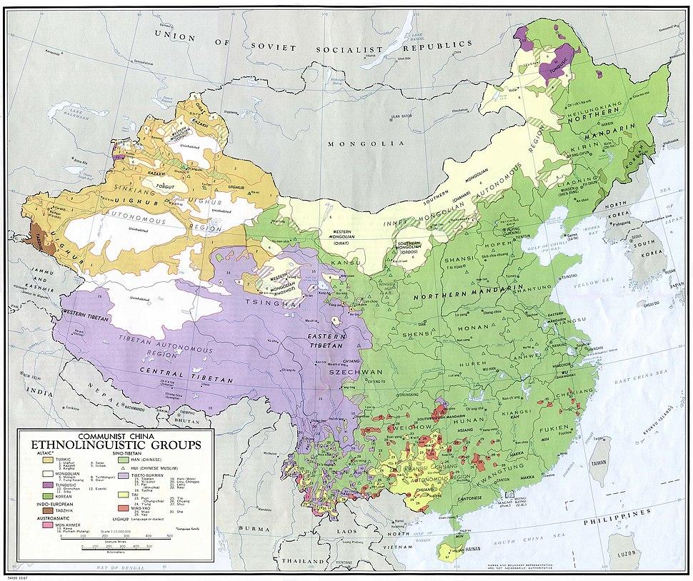 China ethnolinguistic 1967