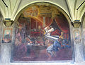 Chiostro grande di smn, lato ovest 08 simone da poggibonsi, sogno di gregoprio IX, 1581-84.JPG