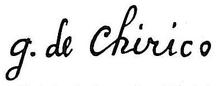 La firma di De Chirico