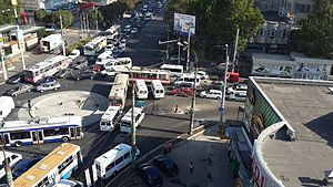Chisinau streets jam