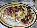 Chocolate chip raspberry pancakes from bennington vermont.JPG