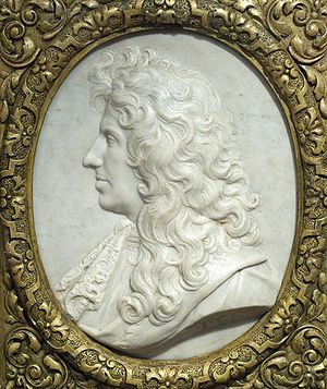 Christiaan Huygens - Christiaan Huygens, relief by  Jean-Jacques Clérion, around 1670?