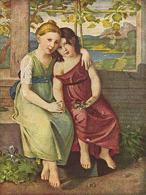 Caroline von Humboldt - Adelheid and Gabriele von Humboldt by Gottlieb Schick, 1809