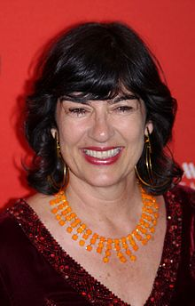 Christiane Amanpour - the beautiful, clever, intelligent,  tv-personality, TV Presenter, news Anchor,   with British, Iranian,  roots in 2020