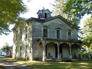 Dresden, Yates County, New York - Historic Christopher Willis House on Seneca St. in Dresden.