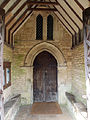 Church of St Guthlac, Little Ponton - Porch and nave south door.jpg