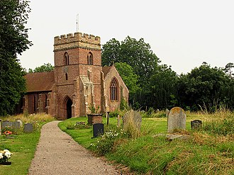 Bromfield, Shropshire - St Mary's parish church.