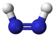 Ball and stick model of diazene ((Z)-diazene)
