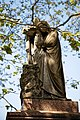City of London Cemetery grieving mourner with cross plinth monument 1.jpg