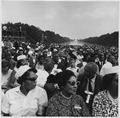 Civil Rights March on Washington, D.C. (Crowd of marchers at the Lincoln Memorial.) - NARA - 542055.tif