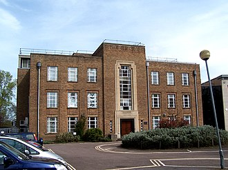 Clarendon Laboratory - The Clarendon Laboratory Lindemann Building front facade.