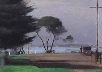 Beaumaris, Victoria - Clarice Beckett, Autumn Morning (Early Morning, Beaumaris).