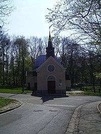 Clichy sous Bois Eglise Notre Dame des Anges (entrée).jpg