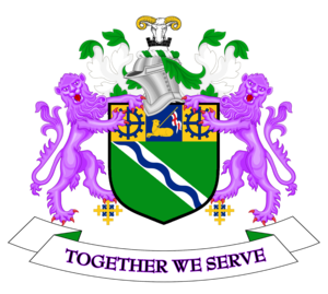 Kirklees - Image: Coat of arms of Kirklees Metropolitan Borough Council