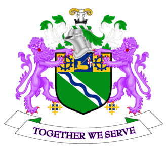 Coat of arms of Kirklees - The coat of arms of Kirklees Borough Council