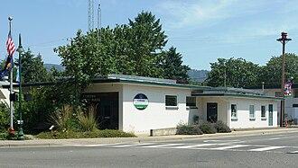 Coburg, Oregon - City hall and municipal court