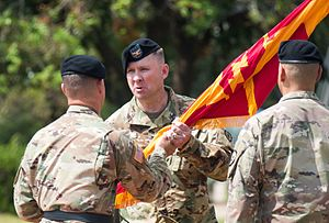 25th Infantry Division Artillery (United States) - Col. Matthew N. Stader receives command of 25th DIVARTY during a change of command ceremony on July 20, 2016