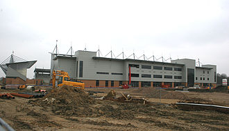 Colchester Community Stadium - Colchester Community Stadium under construction in April 2008