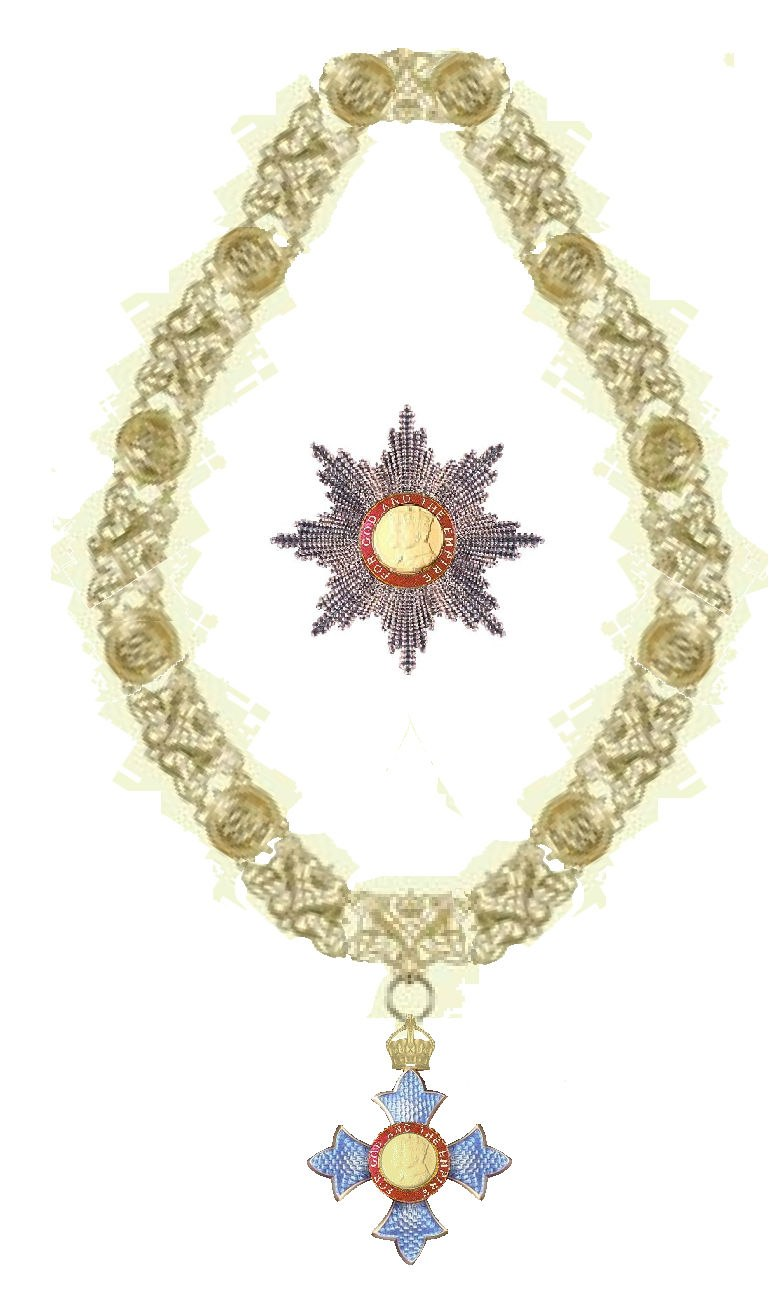 Collar and star of the Order of the British Empire