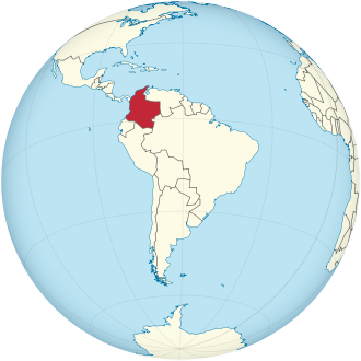 Colombia on the globe (South America centered).svg