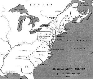 Benjamin Ingham - Colonial Map of North America.
