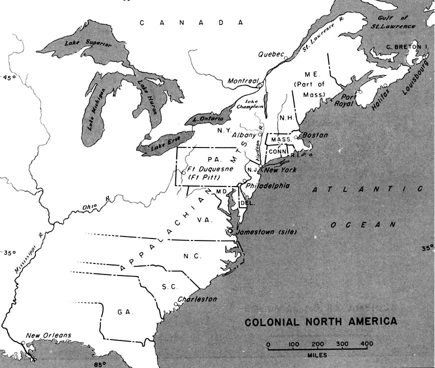 Colonial North America 1689 to 1783