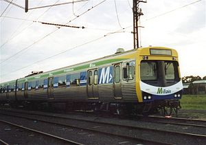 M-Train - Comeng after refurbishment by EDi Rail in October 2002