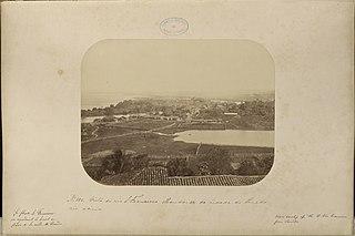Vista do rio São Francisco olhando - se da cidade do Penedo rio acima