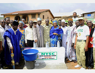 National Youth Service Corps - Tap water project done by Corps members
