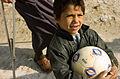Community Policing in Shay'k Sa'ad, with soccer balls DVIDS135687.jpg