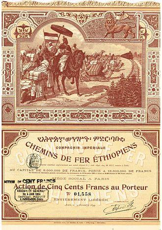 Alfred Ilg - Image: Compagnie Impériale des Chemins de Fer Éthiopiens 1899