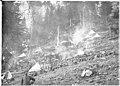 Compagnies d'Alpins avec les feux de bivouac sur Pal Grande - Médiathèque de l'architecture et du patrimoine - AP62T019227.jpg