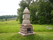 Company K Monument, Devil's Den, Gettysburg Battlefield