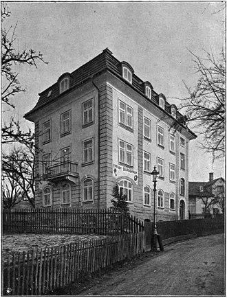 Concilium Bibliographicum - Building for the Concilium in Zurich, 1908