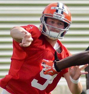 Connor Shaw - Shaw at Cleveland Browns training camp in 2014
