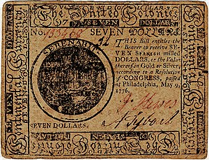 Continental Currency $7 banknote obverse (May 9, 1776).jpg