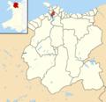 Conwy County Borough UK electoral wards - Marl locator.png