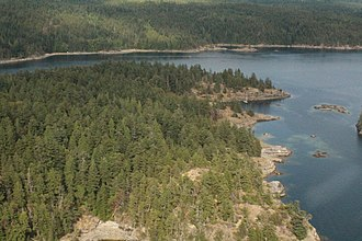 Copeland Islands Marine Provincial Park - Cope Islands, seen from a floatplane