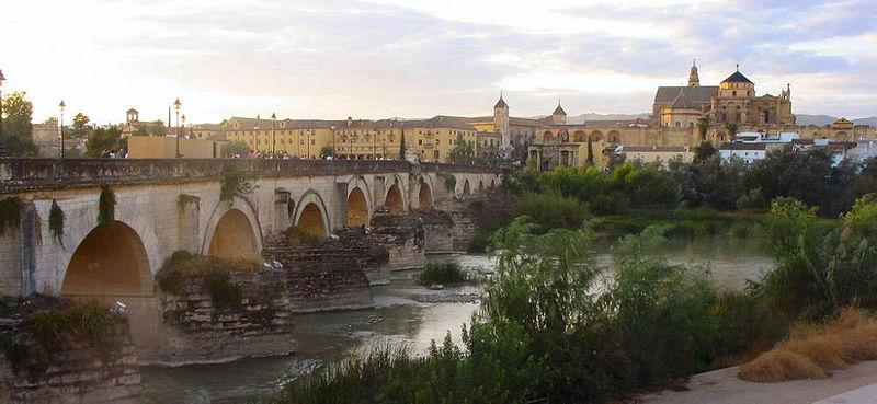 File:Cordoba, Roman Bridge and Mosque-Cathedral.jpg