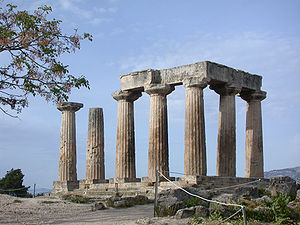 Ancient Corinth - Temple of Apollo, Ancient Corinth.