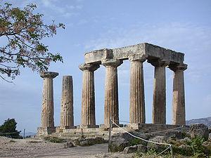 Ancient Corinth - Temple of Apollo, Ancient Corinth.