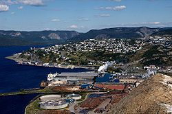 Corner Brook from above