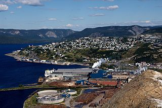 Corner Brook City in Newfoundland and Labrador, Canada