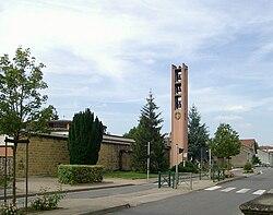Corny-sur-Moselle, Clocher d'église Saint-Martin.jpg