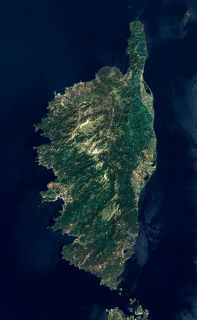 Photo satellite de la Corse (NASA)