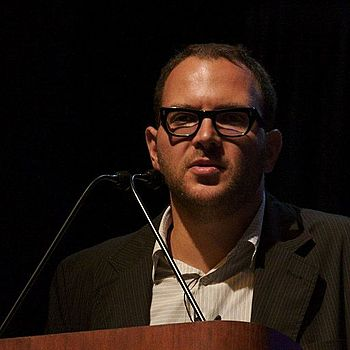 Cory Doctorow, a Canadian blogger/author, at a...